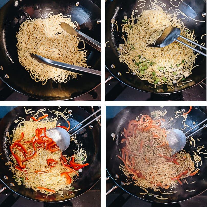 Garlic noodles cooking process