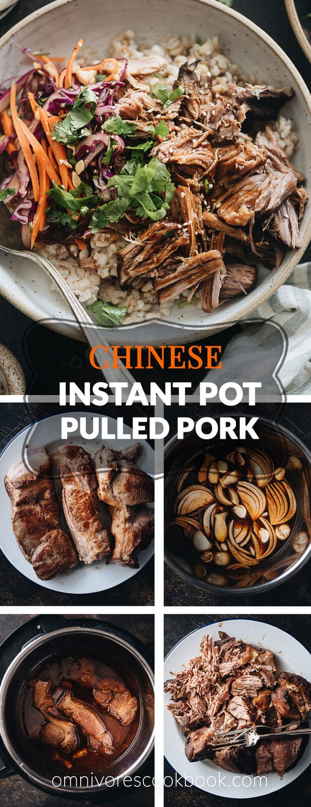 Asian-Style Instant Pot Pulled Pork - Tender, juicy pork with a melt-in-your-mouth texture made in a rich Asian sauce. It's just about everything you need for a weekday dinner because it takes no time to put together. #easy #glutenfree #recipe #shoulder