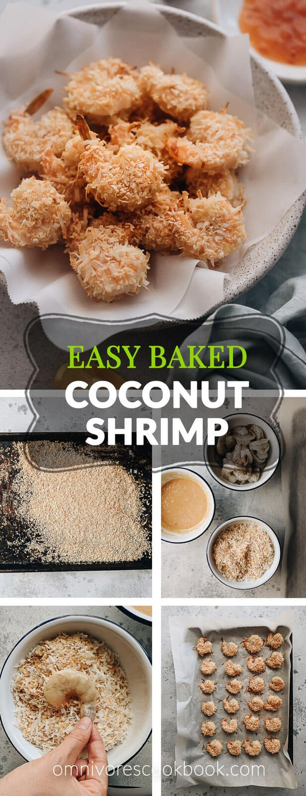 Easy Coconut Shrimp with sweet chili dipping sauce - Sweet, crispy, healthy, and delightful, my coconut shrimp are baked, not fried, to give you that texture you want in a healthier format. #glutenfree #recipe