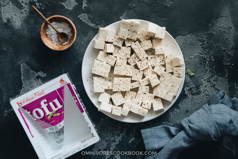 How to prepare tofu for tofu fried rice