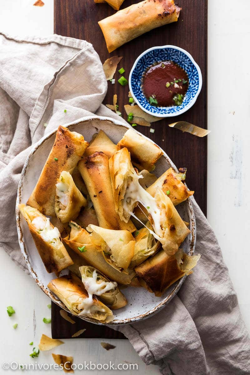 Chinese Mid-Autumn Festival Menu - Cheesy Shrimp Baked Spring Rolls