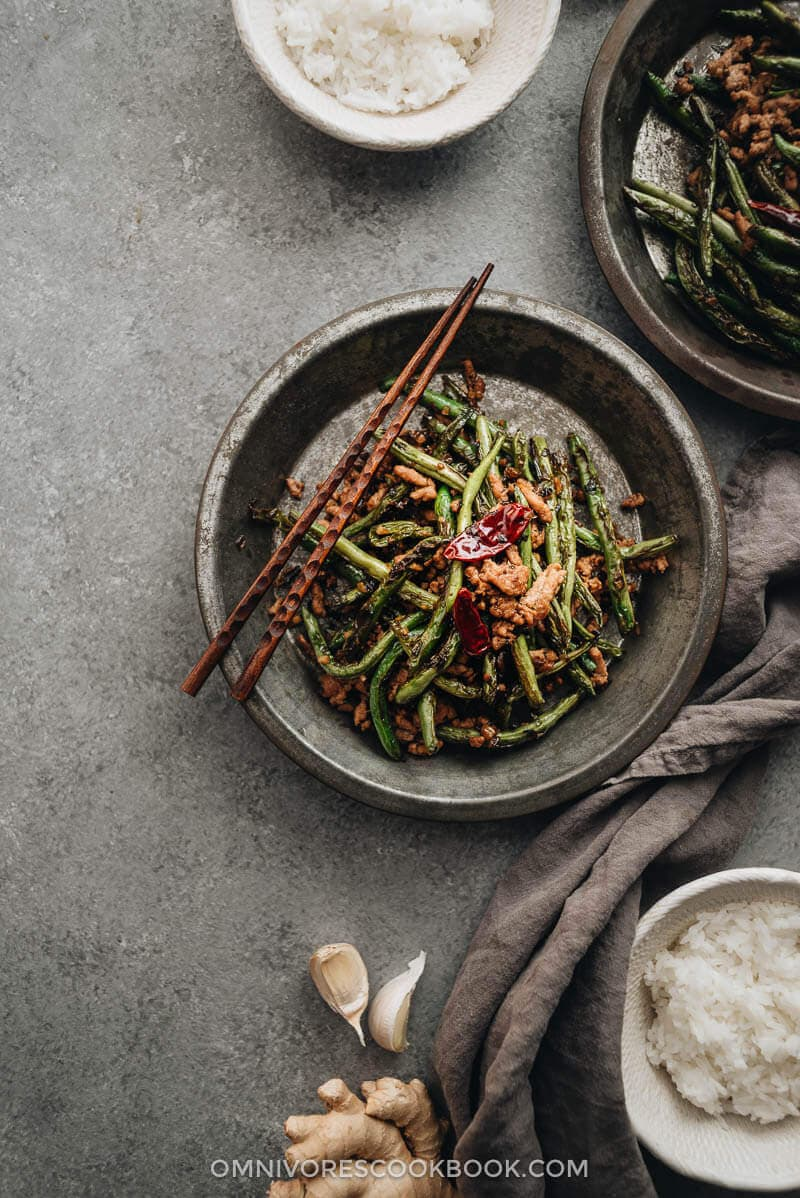 Chinese Mid-Autumn Festival Menu - Sichuan Dry Fried Green Beans