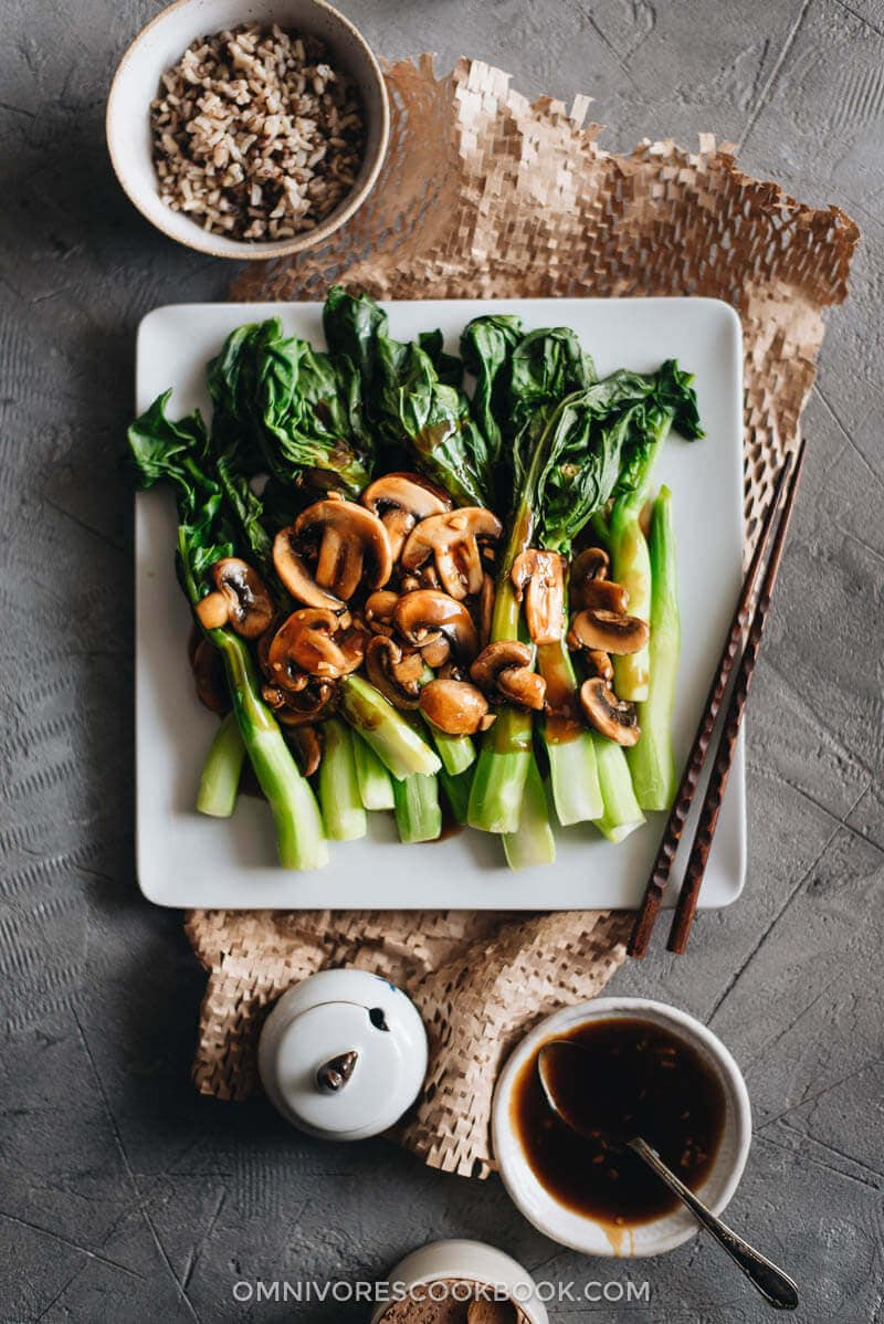 Chinese Mid-Autumn Festival Menu - Chinese Broccoli with Mushrooms