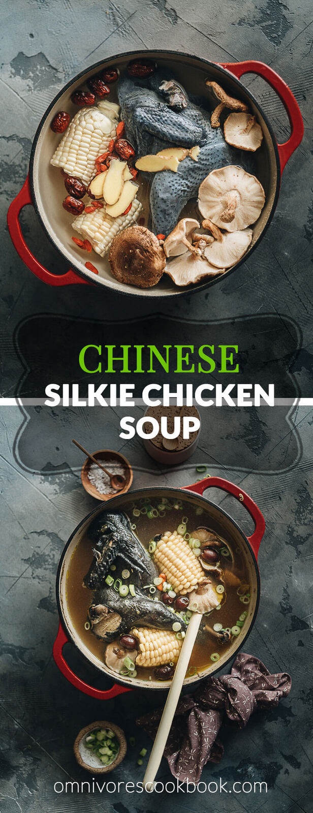Silkie Chicken Soup - A healthy, nutrient-rich savory soup with a touch of sweetness ideal for cooler weather or when you're under the weather! #chinese #recipe #healthy