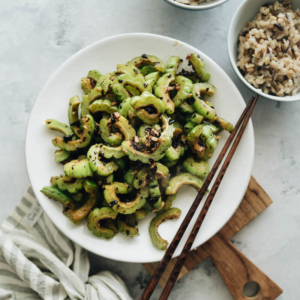 Stir Fried Bitter Melon with Fermented Black Beans - This quick, tasty, and healthy side dish will surprise you with its beautiful simplicity and rich flavor. #glutenfree #chinese #healthy