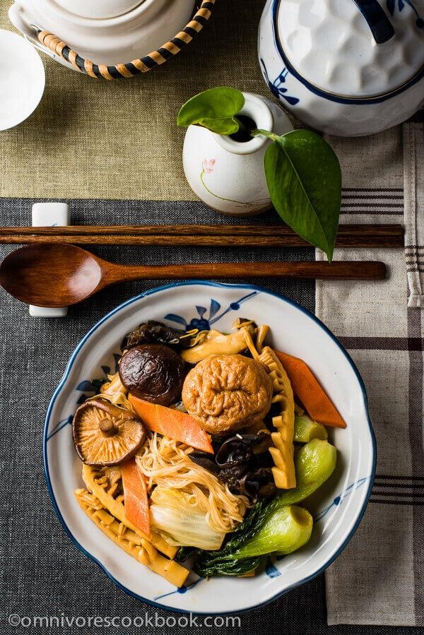 Top 15 Vegetarian Chinese Recipes - Buddha's Delight (Jai, Chinese Vegetarian Stew)