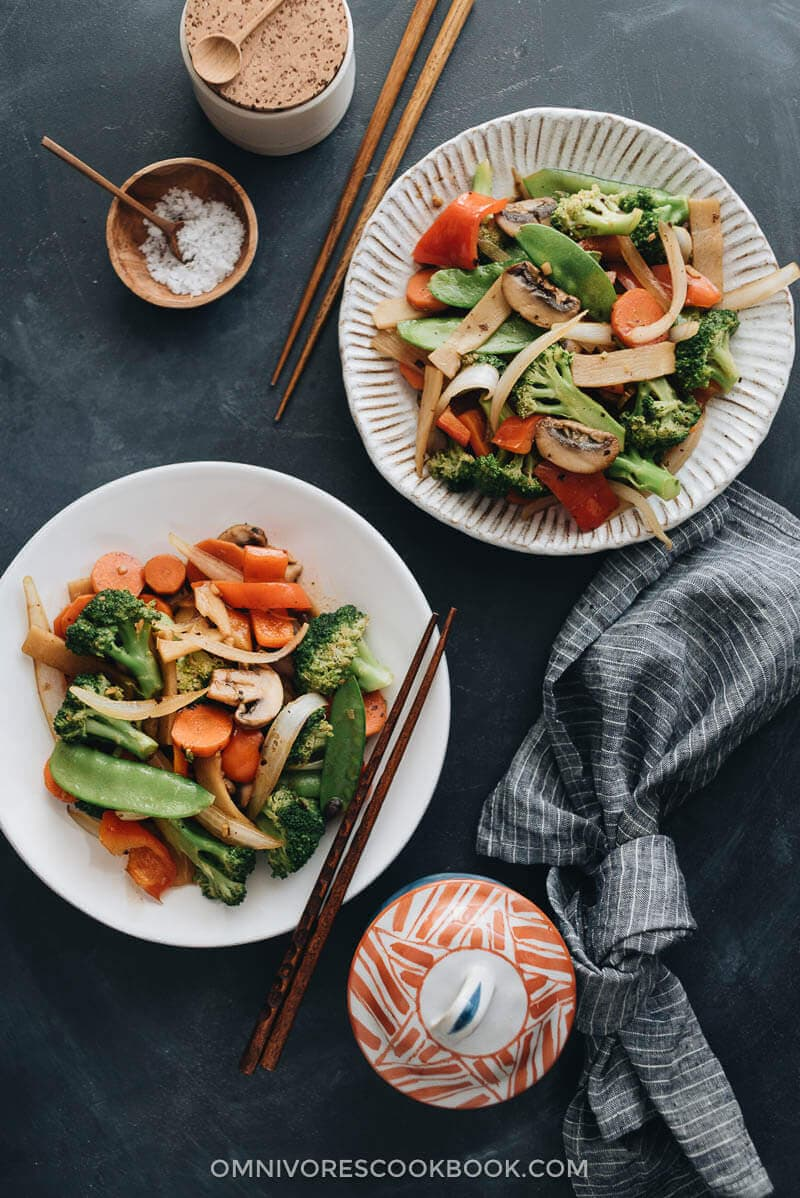 Top 15 Vegetarian Chinese Recipes - Chinese Vegetable Stir Fry