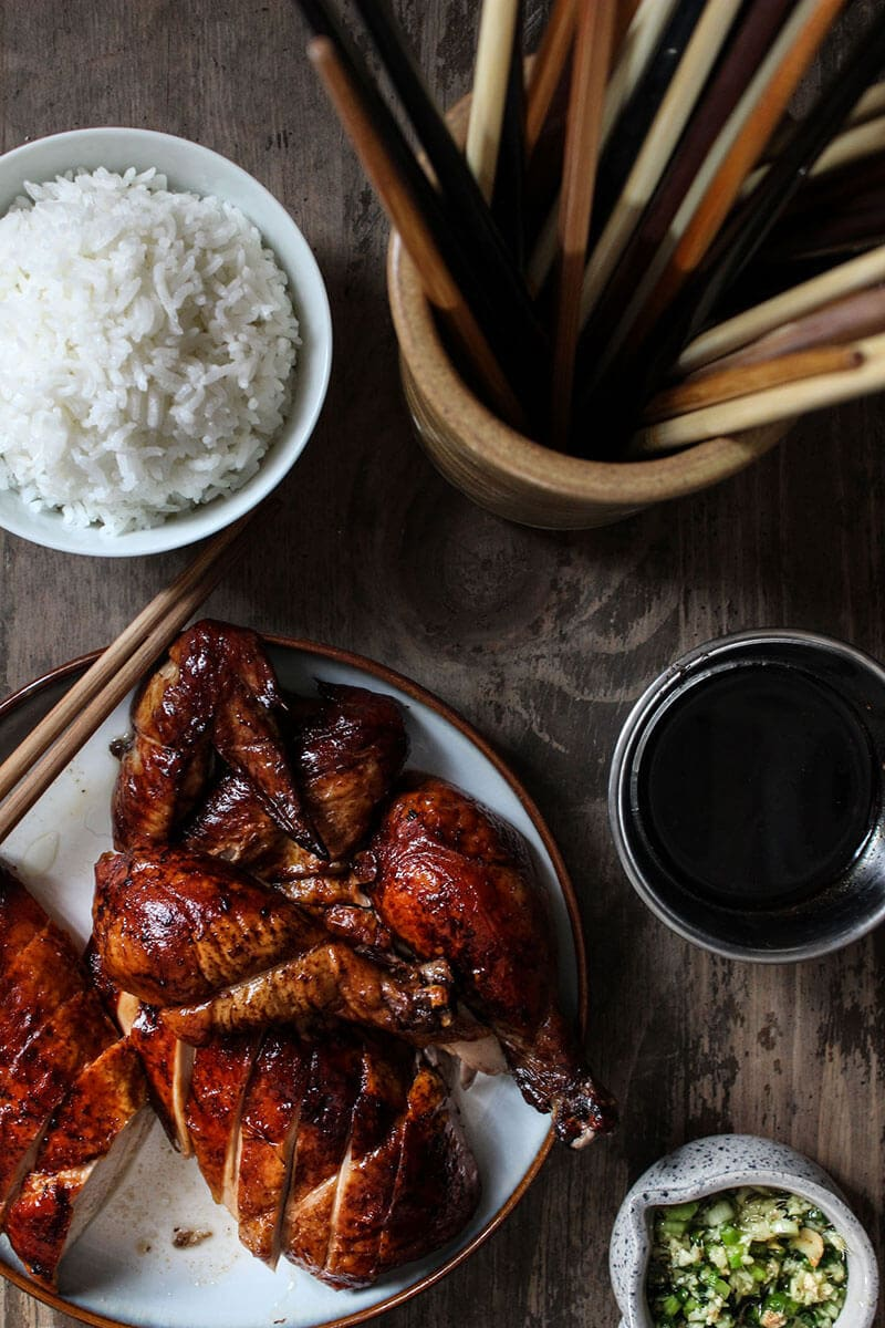 Oven roasted Peking chicken