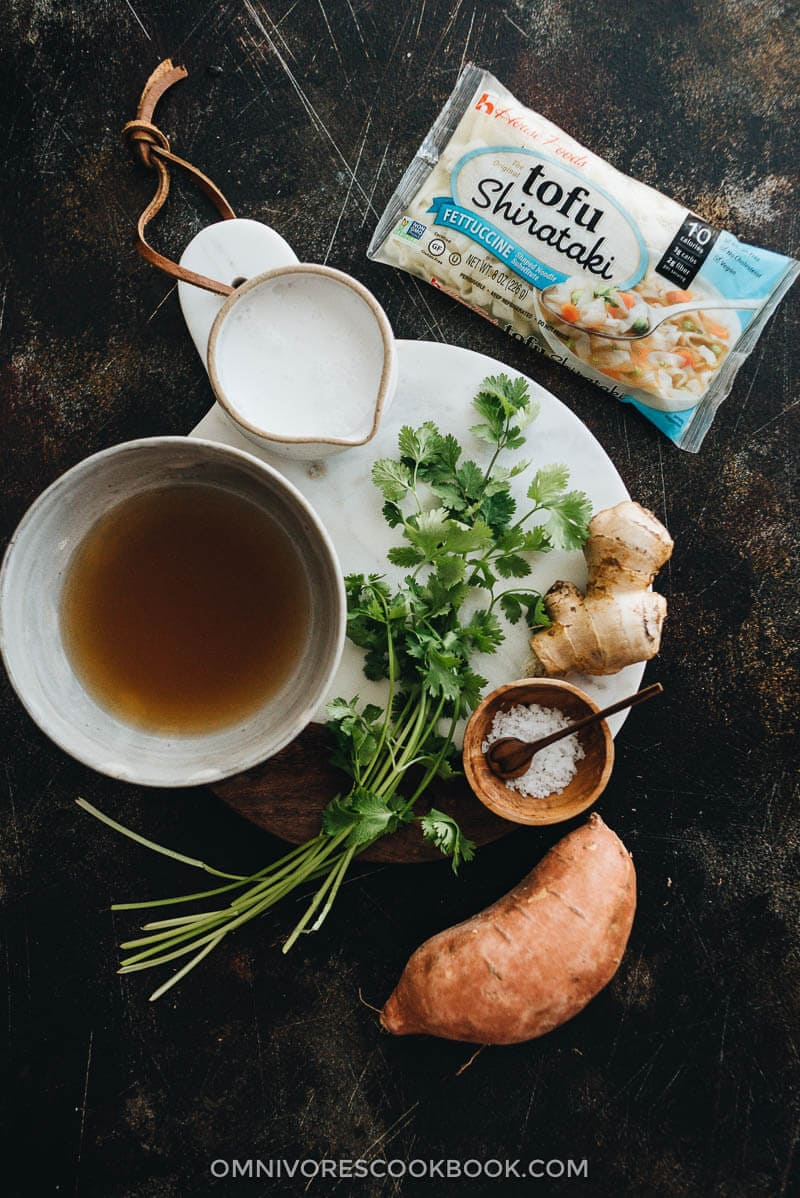 5-Ingredient coconut noodle soup ingredients