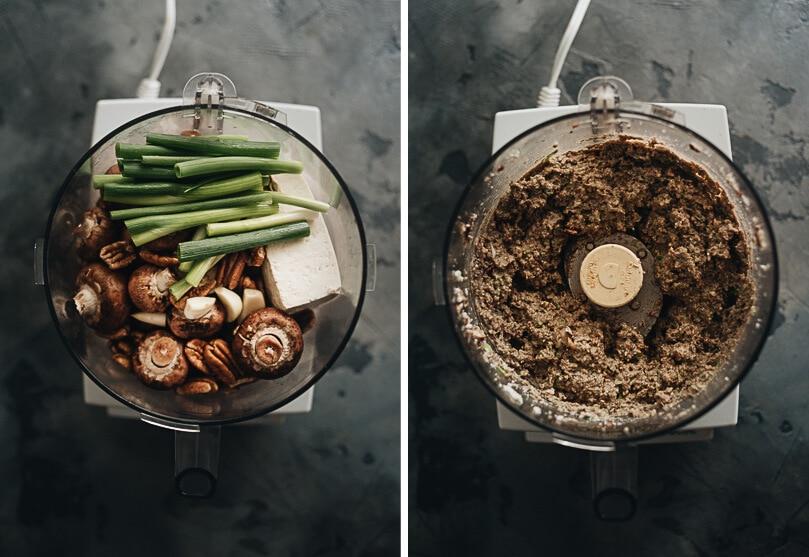 Ingredients for making vegan meat topping