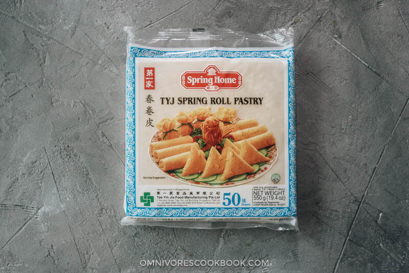 Chinese egg roll wrapper package