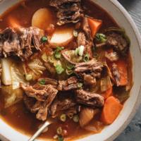 Instant Pot oxtail soup close up