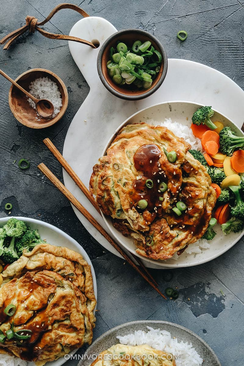 Egg foo young with gravy