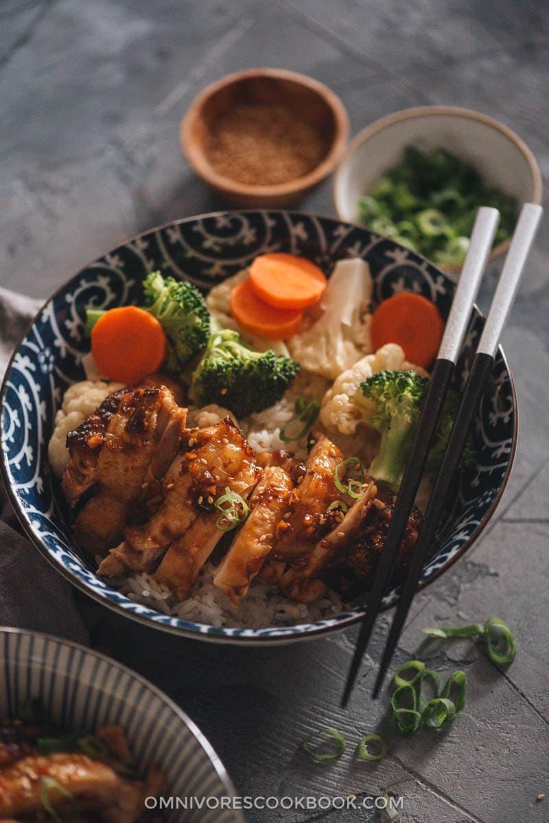 Homemade Chinese Yoshinoya style teriyaki chicken
