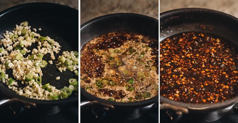 Teriyaki sauce cooking process