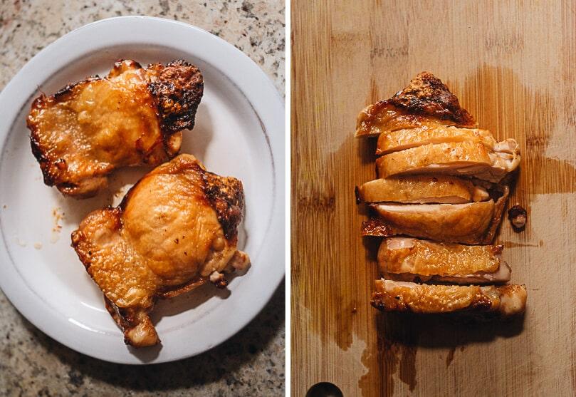 Air-fryer fried chicken thighs