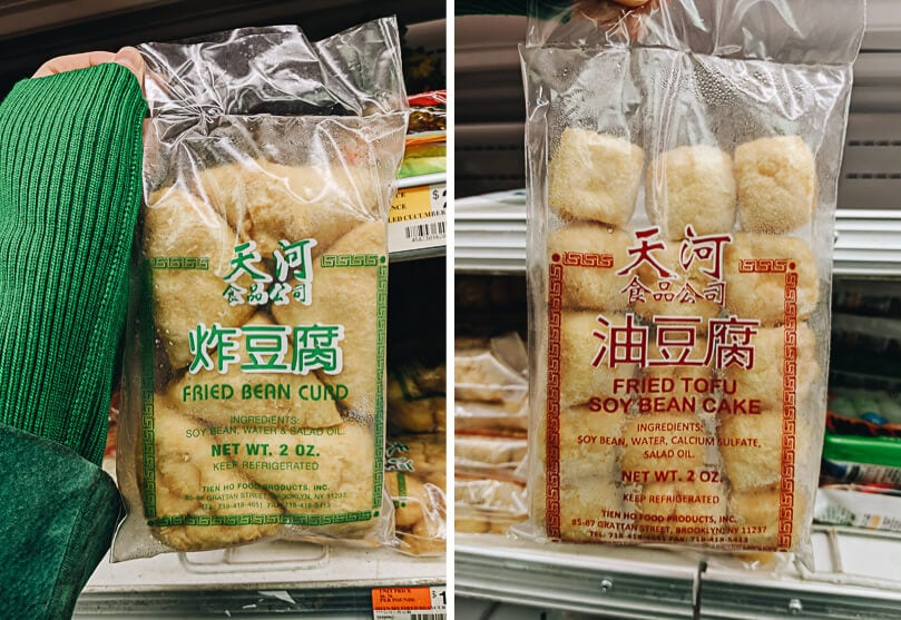 Packaged fried tofu
