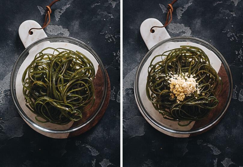 Prepare seaweed salad