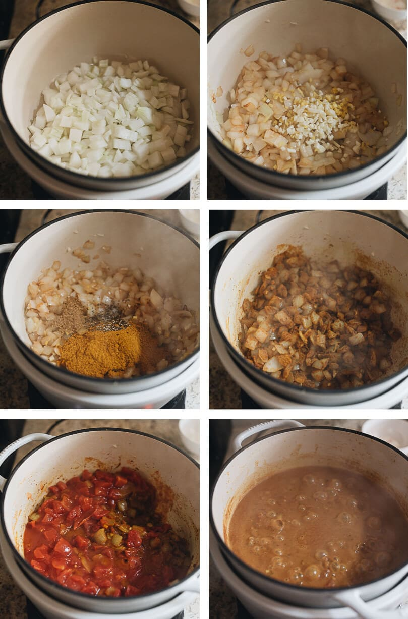 Egg curry cooking process