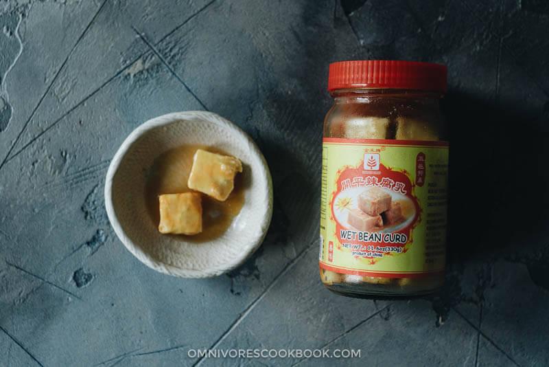White fermented tofu