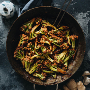 Homemade Chinese cauliflower stir fry