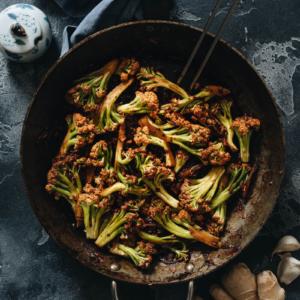 Homemade Chinese cauliflower stir fry
