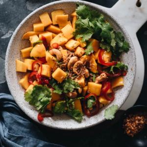Mango salad close up