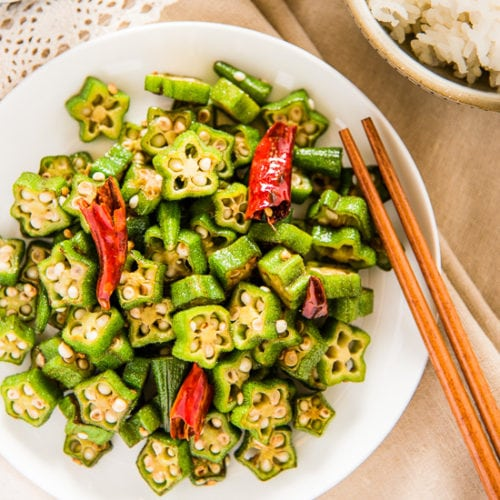 Four Ingredient Okra Stir Fry Omnivore S Cookbook
