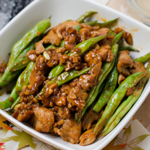 Curry Pork and Green Beans Stir Fry