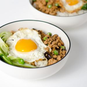 Chinese Ground Chicken Bowl