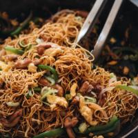 Hokkien noodles close-up