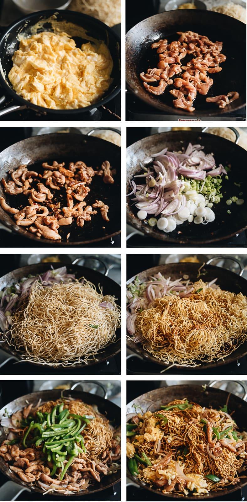 Hokkien noodles cooking process