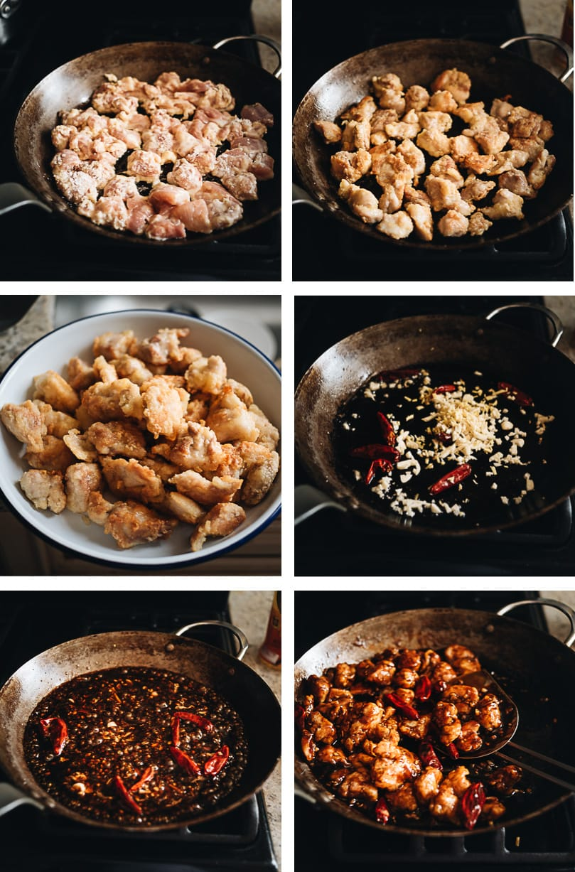 General Tso's Chicken cooking step-by-step