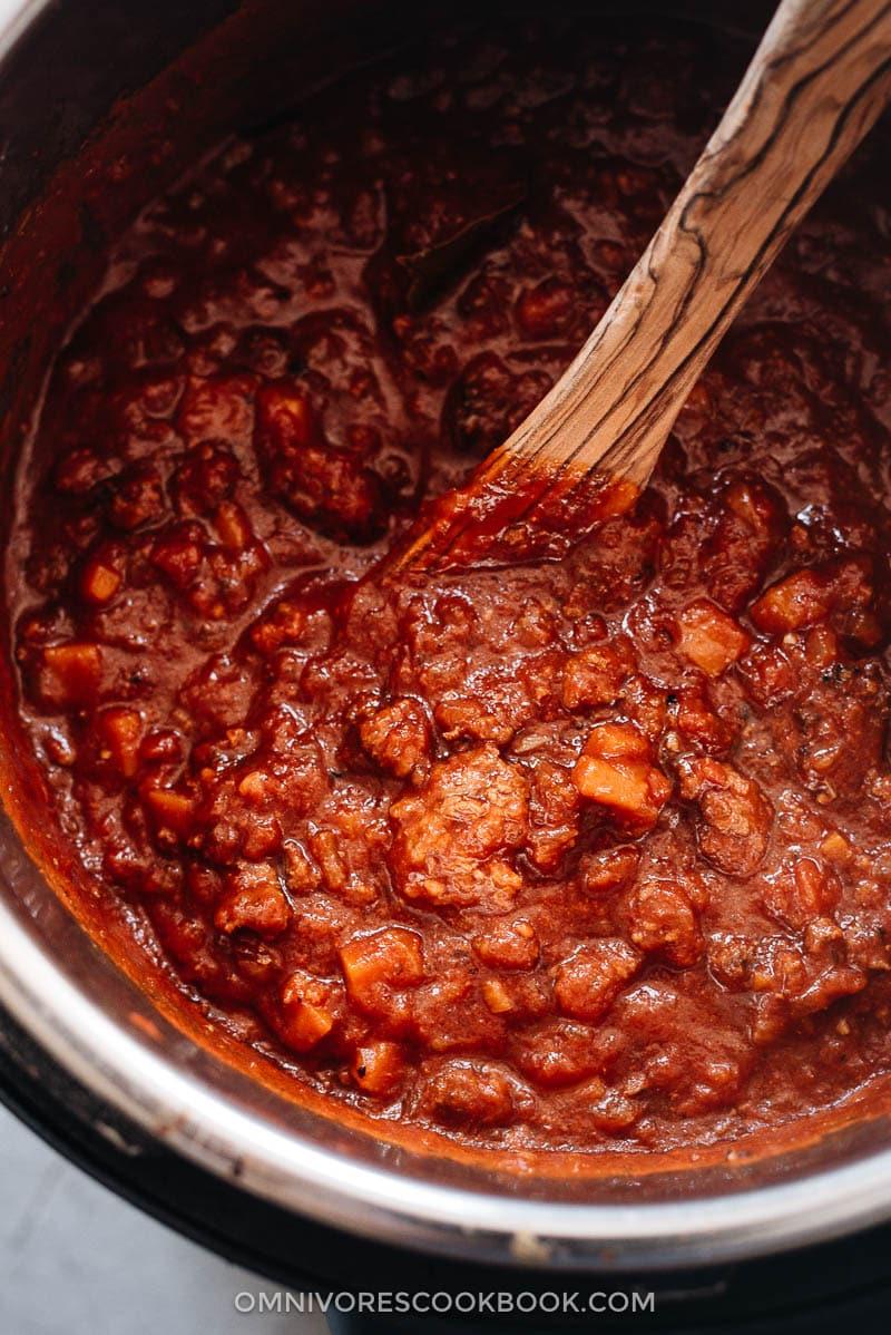 Instant Pot bolognese sauce