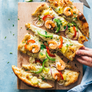 Asian Seafood Pizza