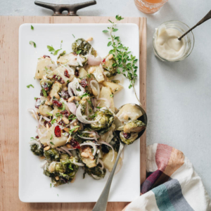 Creamy Potato and Brussels Sprouts Salad