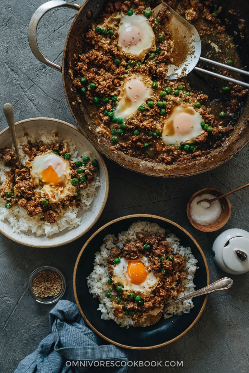 Cantonese Ground Beef Rice And Eggs Ǫè›‹ç‰›è'‰ Omnivore S Cookbook