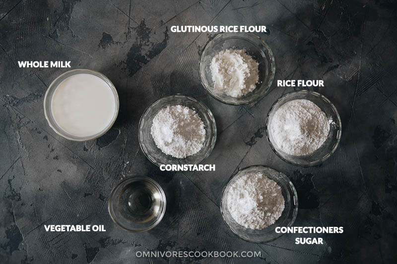 Snow skin mooncake dough ingredients
