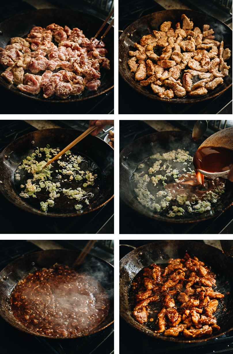 Sweet and sour pork cooking step-by-step