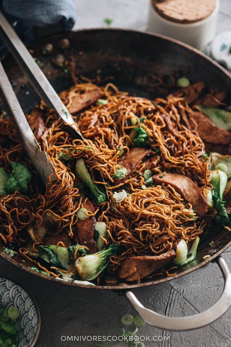 Chinese BBQ pork chow mein
