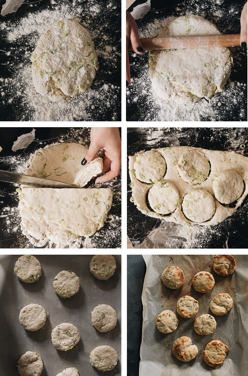 Homemade biscuits cooking step-by-step