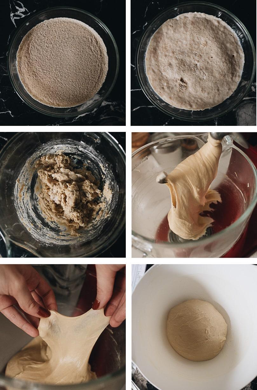 Prepare dough for homemade cinnamon rolls