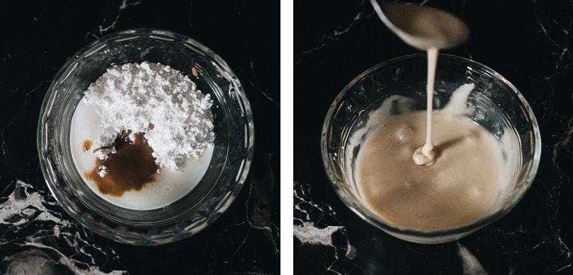 Mix glaze for cinnamon rolls