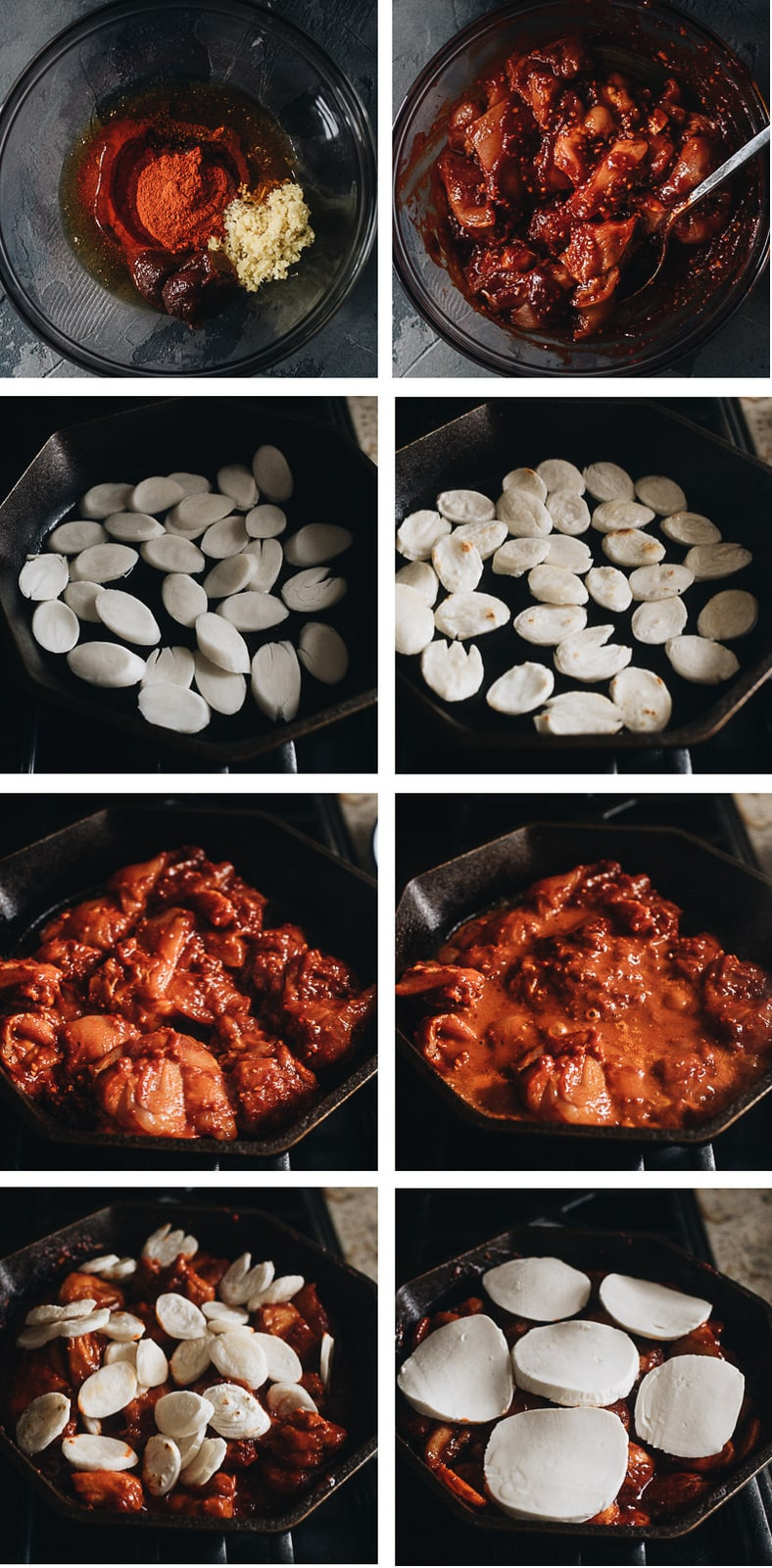 Cooking Korean fire chicken step-by-step
