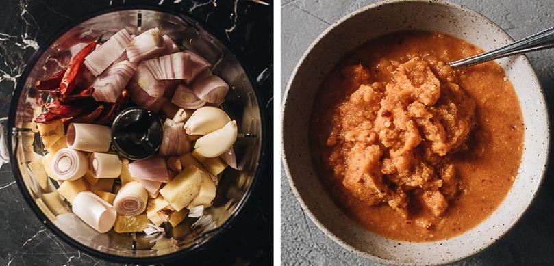 Make fresh curry paste