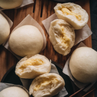 Chinese steamed custard buns