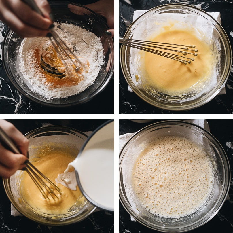 Preparing custard filling step-by-step