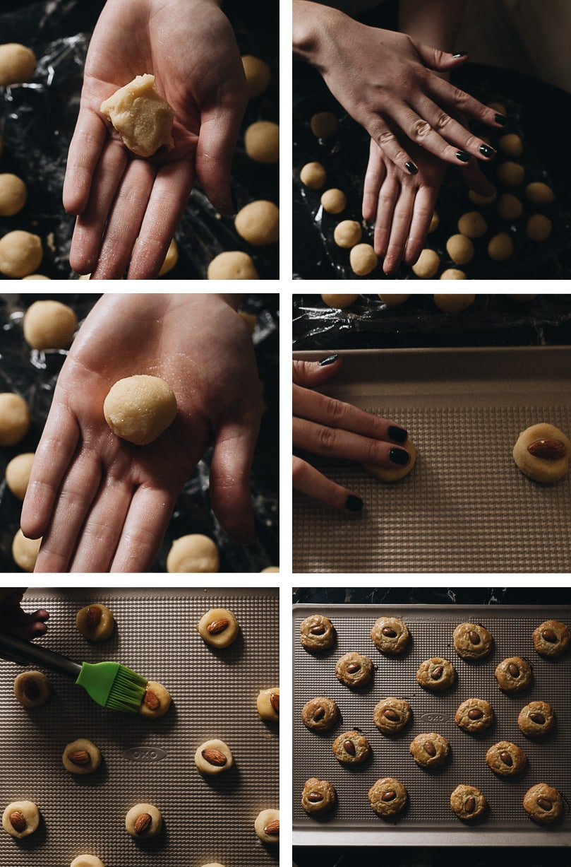 How to shape the cookies