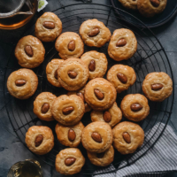 Chinese Almond Cookies | These cookies are not your traditional almond cookies. They have a fluffier and cakier texture, browned edges that are light and crispy, with a slightly chewy, sticky, and soft interior. They have a well-balanced buttery sweetness and nutty taste. They are easy to make and perfect for Chinese New Year and holiday gifting.