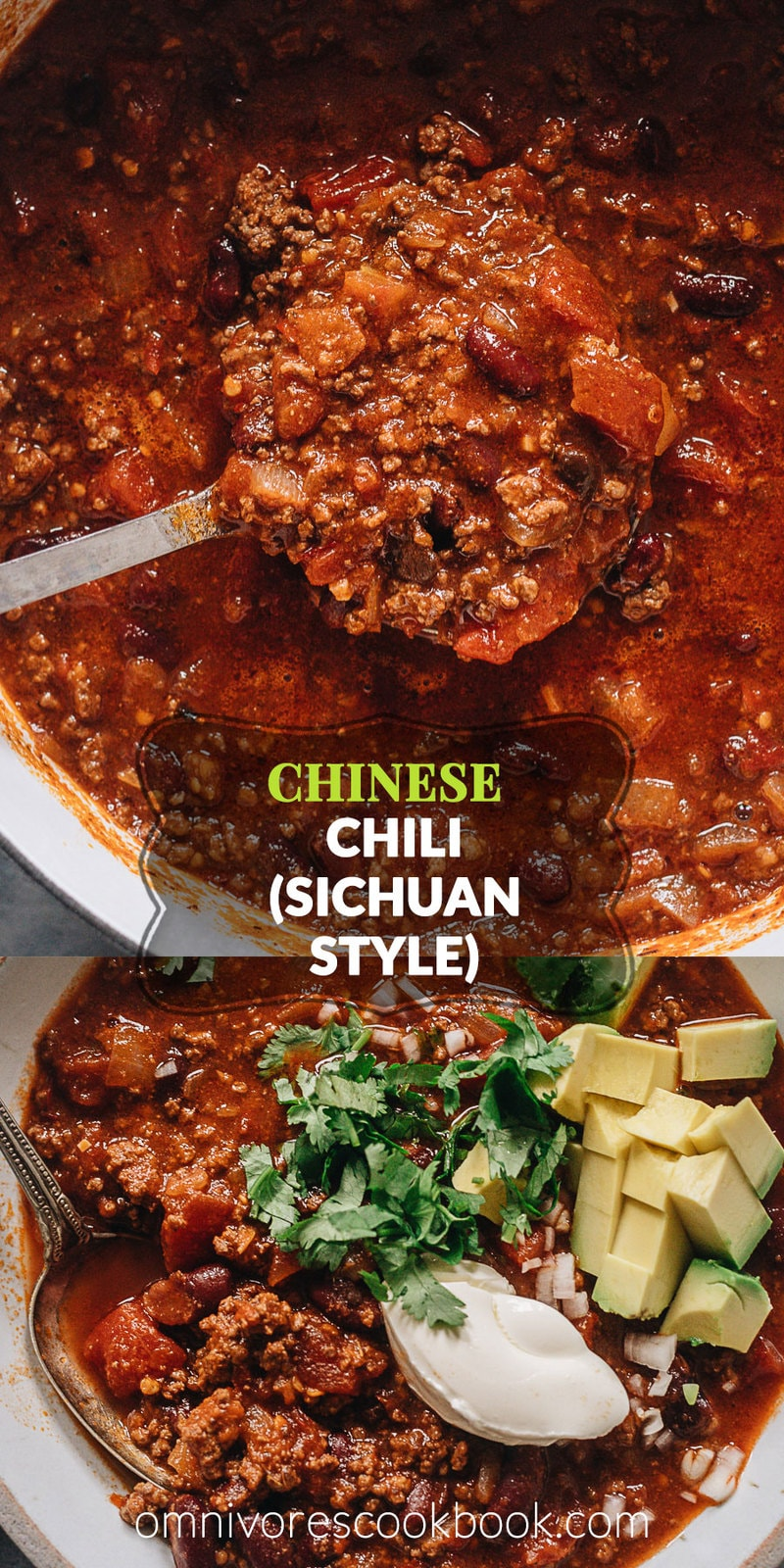 Chinese Chili (Sichuan Style) | Make a hearty pot of chili using Sichuan ingredients to create a super rich and deep umami while keeping the essence of a traditional chili. The recipe teaches you how to make a flavorful chili paste, but you can also use chili powder to make the recipe super easy.